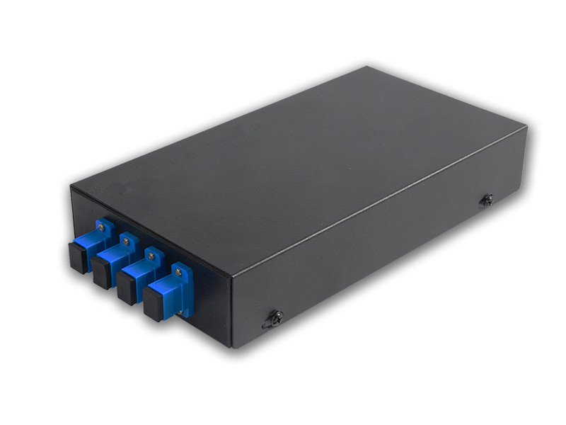 wall mounted SC/UPC 4 port fiber optic patch panel