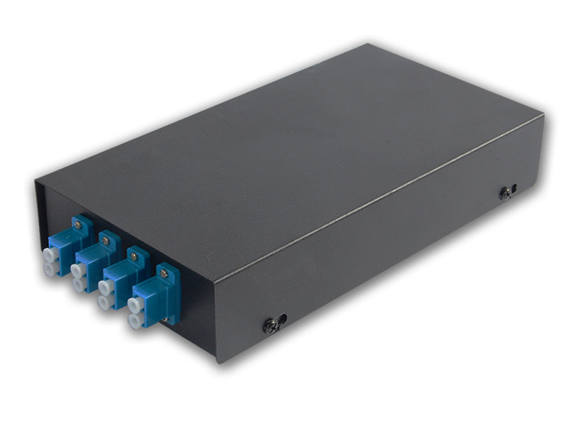 wall mounted singlemode LC 8 port fiber optic patch panel