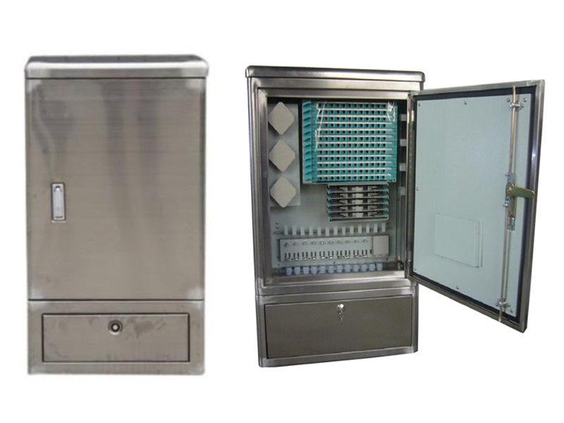 Outdoor stainless steel 144 core OCC,  optical cross connect Cabinet