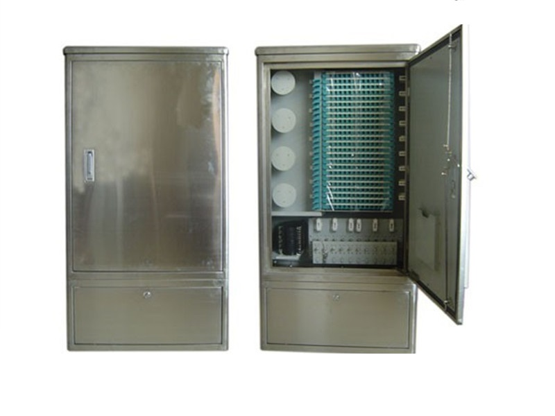 Outdoor stainless steel 288 core OCC,  optical cross connect Cabinet