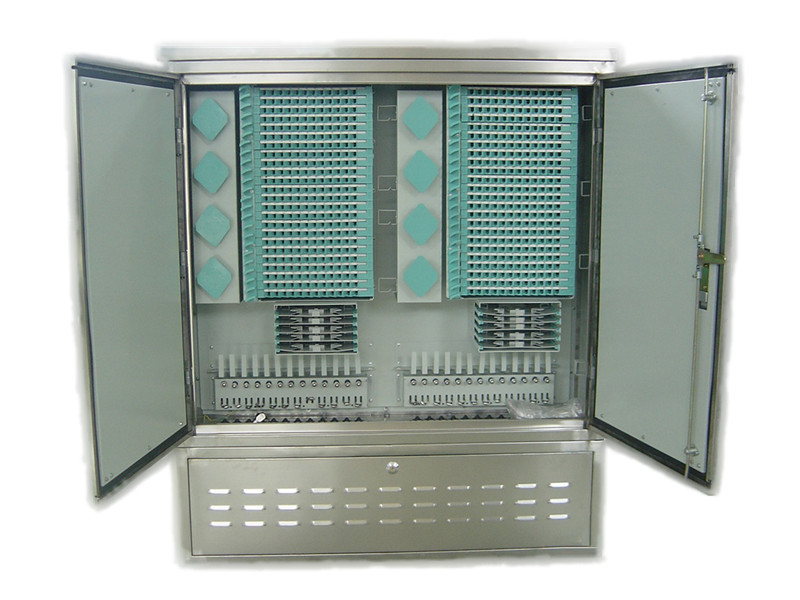 Outdoor stainless steel 576 core OCC,  optical cross connect Cabinet