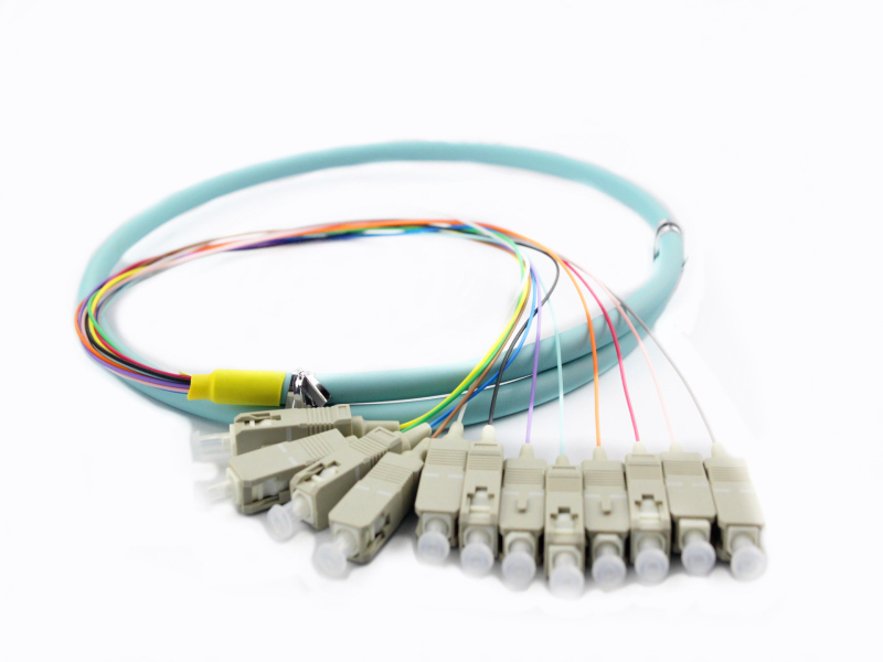 Multi-mode OM3 12 colors SC/UPC fiber optic pigtail