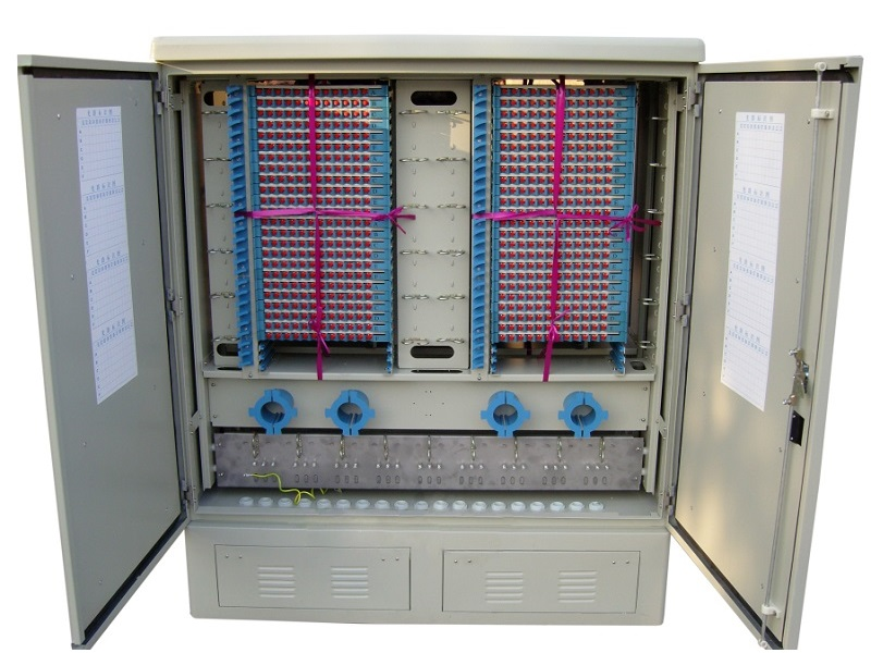 Outdoor stainless steel 1152 core OCC,  optical cross connect Cabinet